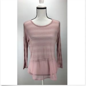 NWT H.I.P. Women's Knit Top Sheer Stripes